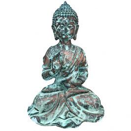 Buddha sitzend, Kupfer Polyresin LxBxH 140x120x210 mm