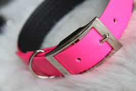 Roze biothane halsband 25mm