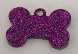 Penning paars glitter