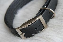 Zwarte biothane halsband 25mm
