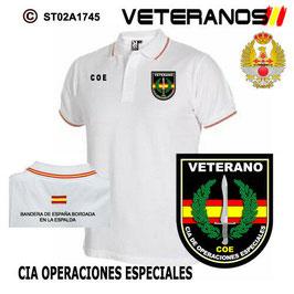 POLOS FUERZAS ARMADAS ESPAÑOLAS: VETERANOS - COMPAÑIA DE OPERACIONES ESPECIALES