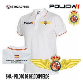 POLOS POLICIA NACIONAL: CNP - SMA / SERVICIO MEDIOS AEREOS / PILOTO