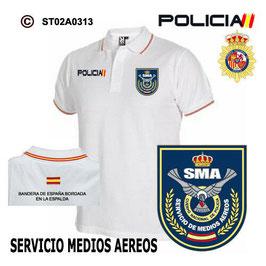 POLOS POLICIA NACIONAL: CNP - SMA / SERVICIO DE MEDIOS AEREOS / ACTUAL