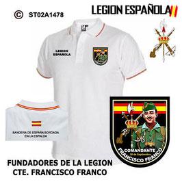 POLO LEGION ESPAÑOLA :  FUNDADORES DE LA LEGION  CTE. FRANCISCO FRANCO