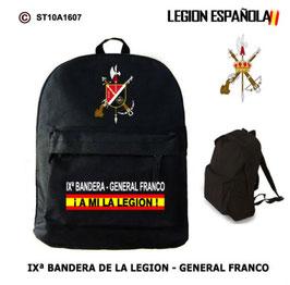 MOCHILAS LEGION ESPAÑOLA: IXª BANDERA - GENERAL FRANCO