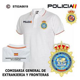 POLOS POLICIA NACIONAL: CNP - COMISARIA GENERAL DE EXTRANJERIA / 3 MODELOS