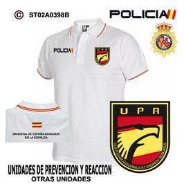 POLOS POLICIA NACIONAL: CNP - UNIDADES DE PREVENCION Y REACCION / 3 MODELOS