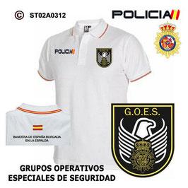 POLOS POLICIA NACIONAL: CNP - GOES / GRUPOS OPERATIVOS ESPECIALES DE SEGURIDAD