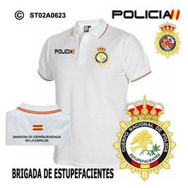 POLOS POLICIA NACIONAL: CNP - BRIGADA DE ESTUFACIENTES / 3 MODELOS