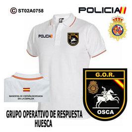 POLOS POLICIA NACIONAL: CNP - GOR / GRUPO OPERATIVO DE RESPUESTA / HUESCA