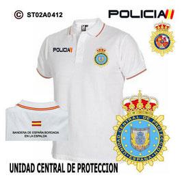 POLOS POLICIA NACIONAL: CNP - UNIDAD CENTRAL DE PROTECCION / 3 MODELOS