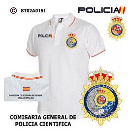 POLOS POLICIA NACIONAL: CNP - COMISARIA GENERAL POLICIA CIENTIFICA / 3 MODELOS