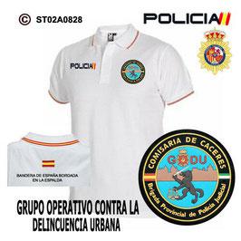 POLOS POLICIA NACIONAL: CNP - GRUPO OPERATIVO CONTRA LA DELINCUENCIA URBANA