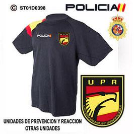 CAMISETAS TECNICAS POLICIA NACIONAL: UNIDADES DE PREVENCION Y REACCION / 4 MOD