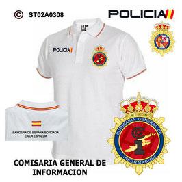POLOS POLICIA NACIONAL: CNP - COMISARIA GENERAL DE INFORMACION / 3 MODELOS