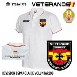 POLOS FUERZAS ARMADAS ESPAÑOLAS : VETERANOS - DIVISION ESPAÑOLA DE VOLUNTARIOS