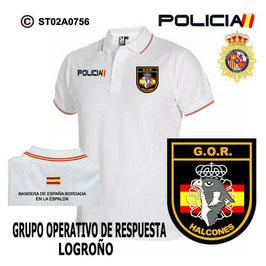 POLOS POLICIA NACIONAL: CNP - GOR / GRUPO OPERATIVO DE RESPUESTA / LOGROÑO