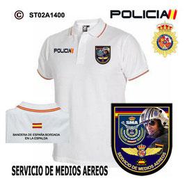 POLOS POLICIA NACIONAL: CNP - SMA / SERVICIO DE MEDIOS AEREOS / PILOTO