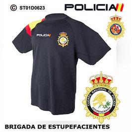 CAMISETAS TECNICAS POLICIA NACIONAL: CNP - BRIGADA DE ESTUPEFACIENTES