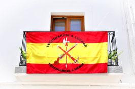 BANDERA LEGION ESPAÑOLA BALCON ROJA Y GUALDA