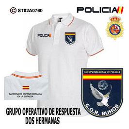 POLOS POLICIA NACIONAL: CNP - GOR / GRUPO OPERATIVO DE RESPUESTA / 2 HERMANAS