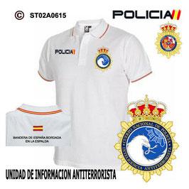 POLOS POLICIA NACIONAL: CNP - UNIDAD INFORMACION ANTITERRORISTA / 3 MODELOS