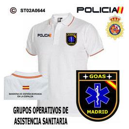 POLOS POLICIA NACIONAL: CNP - GOAS - GRUPO OPERATIVO DE ASISTENCIA SANITARIA