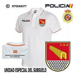POLOS POLICIA NACIONAL: CNP - UES / UNIDAD ESPECIAL DEL SUBSUELO