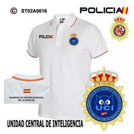 POLOS POLICIA NACIONAL: CNP - UNIDAD CENTRAL DE INTELIGENCIA / 3 MODELOS