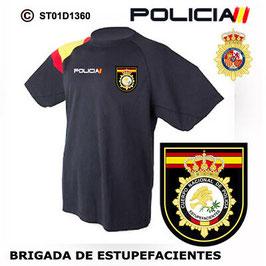 CAMISETAS TECNICAS POLICIA NACIONAL: CNP - BRIGADA DE ESTUPEFACIENTES  ST01D1360