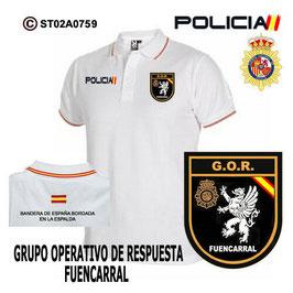 POLOS POLICIA NACIONAL: CNP - GOR / GRUPO OPERATIVO DE RESPUESTA / FUENCARRAL