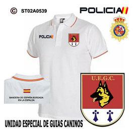 POLOS POLICIA NACIONAL: CNP - UEGC / UNIDAD ESPECIAL DE GUIAS CANINOS