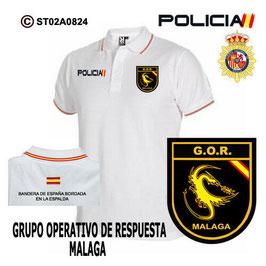 POLOS POLICIA NACIONAL: CNP - GOR / GRUPO OPERATIVO DE RESPUESTA / MALAGA