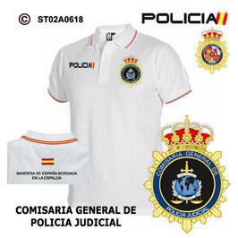 POLOS POLICIA NACIONAL: CNP - COMISARIA GENERAL DE POLICIA JUDICIAL / 3 MODELOS
