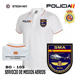 POLOS POLICIA NACIONAL: CNP - SMA / SERVICIO DE MEDIOS AEREOS / BO 105