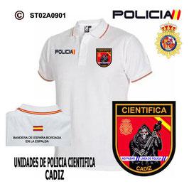 POLOS POLICIA NACIONAL: CNP - UNIDAD DE POLICIA CIENTIFICA / CADIZ