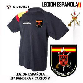 CAMISETAS TECNICAS: LEGION ESPAÑOLA - IIª BANDERA CARLOS V M3