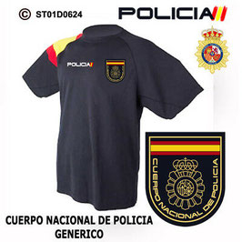 CAMISETAS TECNICAS POLICIA NACIONAL: CNP - ESCUDO GENERICO M2