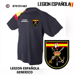 CAMISETAS TECNICAS: LEGION ESPAÑOLA - ESCUDO GENERICO M3