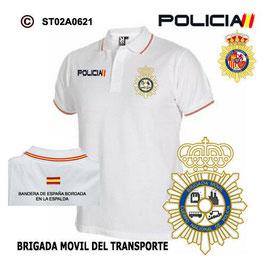 POLOS POLICIA NACIONAL: CNP - BRIGADA MOVIL DEL TRANSPORTE / 2 MODELOS