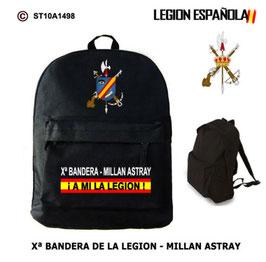 MOCHILAS LEGION ESPAÑOLA: Xª BANDERA - MILLAN ASTRAY