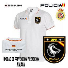 POLOS POLICIA NACIONAL: CNP - UPR / UNIDADES PREVENCION Y REACCION / MALAGA