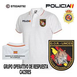 POLOS POLICIA NACIONAL: CNP - GOR / GRUPO OPERATIVO DE RESPUESTA / CACERES