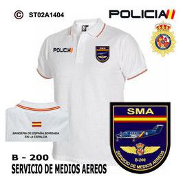 POLOS POLICIA NACIONAL: CNP - SMA / SERVICIO DE MEDIOS AEREOS / B200