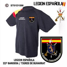 CAMISETAS TECNICAS: LEGION ESPAÑOLA - IIIª BANDERA TIGRES DE BUHARRAT M3