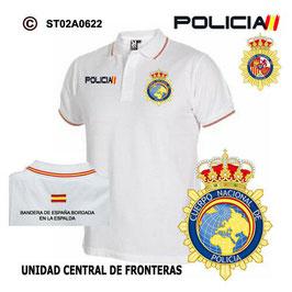 POLOS POLICIA NACIONAL: CNP - UNIDAD CENTRAL DE FORNTERAS / 3 MODELOS