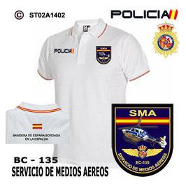 POLOS POLICIA NACIONAL: CNP - SMA / SERVICIO DE MEDIOS AEREOS / EC 135