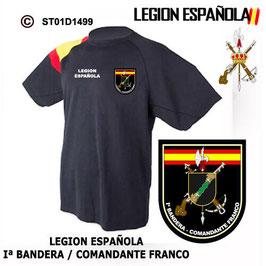 CAMISETAS TECNICAS: LEGION ESPAÑOLA - Iª BANDERA COMANDANTE FRANCO M3