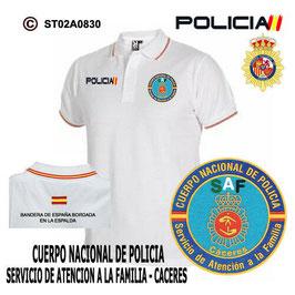 POLOS POLICIA NACIONAL: CNP - SERVICIO DE ATENCION A LA FAMILIA / CACERES