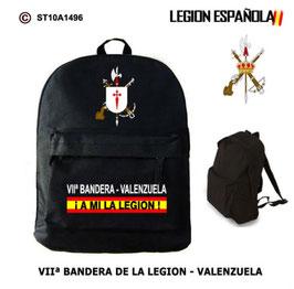 MOCHILAS LEGION ESPAÑOLA: VIIª BANDERA - VALENZUELA